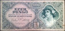 Hungary banknote - 1000 ezer pengo without stamp - 1945 post-war hyperinflation