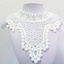 New Lace Embroidered Floral Neckline Neck Collar Trim Clothes Sewing Applique #5