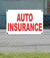 2x3 AUTO INSURANCE Red & White Banner Sign NEW Discount Size & Price FREE SHIP