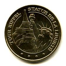 75008 Tour Eiffel et Statue de la Liberté, 2015, Monnaie de Paris