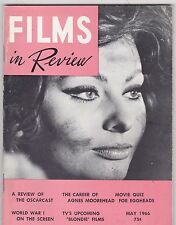 MAY 1966 FILMS IN REVIEW vintage movie magazine - SOPHIA LOREN