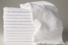 12  NEW WHITE HOTEL B GRADE 100% COTTON RINGSPUN HAND TOWELS 16X27