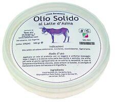Olio solido al latte d'asina, vasetto da gr.100 x difese cutanee contro agenti e