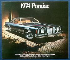 Prospectus brochure 1974 pontiac firebird * ventura * Catalina * Bonneville (usa)