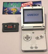 NINTENDO GAME BOY ADVANCE SP PLATINUM SILVER CONSOLE GAMEBOY GBA SYSTEM RARE (2)
