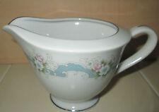 Happy Home Porcelain Rose Bud Creamer Made in Japan Blue Pink Floral Art