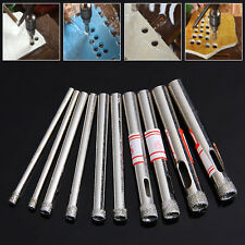 10Pcs 3-7mm Diamond Coated Core Saw Hole Drill Tool Set For Glass Marble Tiles
