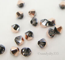144 x SWAROVSKI 5328 Crystal Rose Gold 4mm XILION BICONE CRYSTAL BEAD