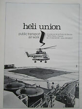 5/1982 PUB HELICOPTERE PUMA HELI UNION PUBLIC TRANSPORT AIR WORK OFFSHORE AD