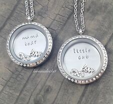 Mama Bear Little Cub Matching Lockets, Mother Daughter Matching Necklaces, Gifts