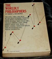 The Worldly Philosophers, Robert L. Heilbroner, Soft Cover, 1953, 13th Printing,