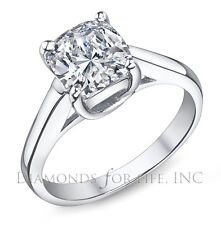 0.97 CT CUSHION H SI1 GIA CERTIFIED DIAMOND ENGAGEMENT RING 6.35x5.57x3.57MM