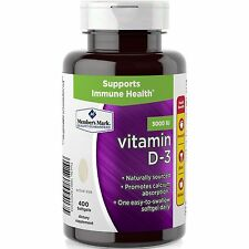 GENERIC VITAMIN D 3  - 5000 IU - 400 softgels D3 D simply right member's mark