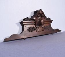 "*34"" French Antique Pediment/Crest/Panel in Walnut Wood"