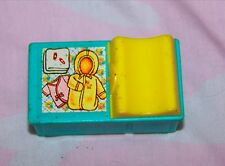 Fisher Price Little People blue and yellow baby changing table - nursery vintage