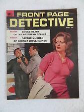 Vintage FRONT PAGE DETECTIVE Magazine April 1962 Dell Publishing Co.