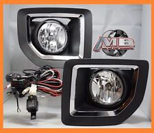 2015 2016 GMC Sierra 2500 Fog Light Bumper Lamp Clear PAIR WIRING+SWITCH- KIT