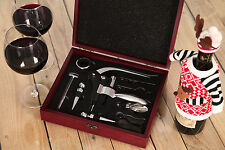 VinoTerra Wine Tools Accessories Bottle Opener Corkscrew Connoisseur Gift Set