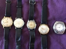 job lot 5 mens gents watches for refurb rotary oris ermano etc, some work