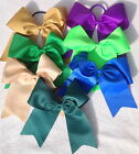 "Extra Large 8"" Bow Plain Cheerleader Hair Bow Bobble Elastic School Girl"