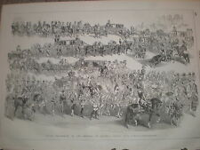 Grand Procession of the Empress of Austria (elect) into Vienna 1854 old  print