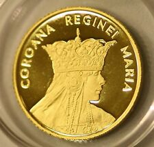 ROMANIA 10 Lei 2015 Gold PROOF Romanian Rumänien UNC Queen Mary Regina MARIA