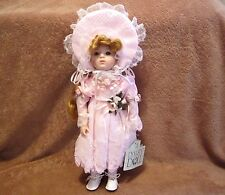 Dynasty Doll Collection ,Fleurette Porcelain Doll 14""