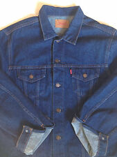 LEVIS 80s Vtg Denim Trucker Type 3 Mens 48 XXL Jacket 70370 FRANCE Mint