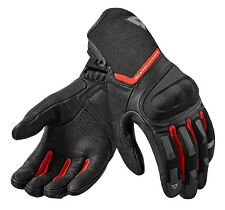 GUANTI MOTO GLOVES REV'IT STRIKER 2 NERO ROSSO BLACK RED SUMMER TOURING TG XXL