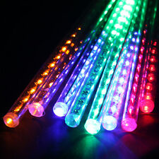 8x30 cm Tube 144 LED RGB Multi-color Meteor Shower Rain Lights String Waterproof