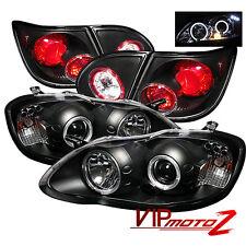 Halo Projector Headlight+Black Altezza Tail Lamp Toyota Corolla 2003 LE/CE/XLE