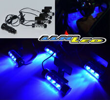 4 Pcs Blue LED Car Charge Interior Floor Decorative Atmosphere Lights 12V