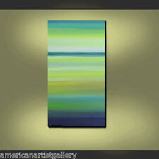 ORIGINAL Painting Large 48x24 Modern Seascape Ready to Hang art by Thomas John