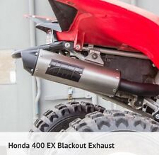 Honda TRX400EX 1999-2014 HMF performance Series BLACKOUT SlipOn Exhaust/JET KIT