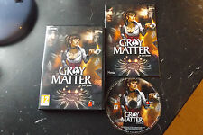 GRAY MATTER PC DVD-ROM V.G.C. COMPLETE ( action/adventure & point & click game )