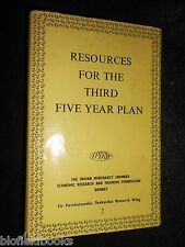 INDIA: Resources For The Third Five Year Plan 1961-1st, Indian Merchants Chamber