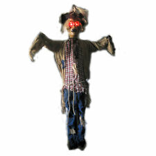 Lighted 6' Scarecrow Harvest Evil Hanging Halloween Haunted House Party Prop 75""