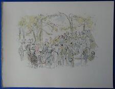 Léonard FOUJITA : Garden Party # LITHOGRAPHIE SIGNEE # 1952