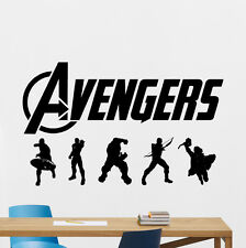Avengers Wall Decal Iron Man Hulk Superheroes Vinyl Sticker Comics Mural 55zzz