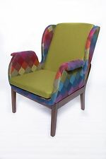 New Modern Contemporary fabric upholstery Relax accent chair in Green
