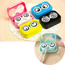 Travel Cute Cartoon Eyes Shape Contact Lens Case Box Container Holder