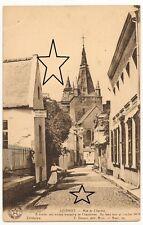 CPA - Soignies - Rue du Chantre - légèrement animée - Vierge - 2 photos