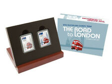 2012 The Road to London Stamp-Coin Set - 1/2 oz 999 Silver Proof Stamp-Coin