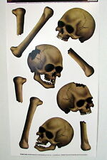 Halloween Decoration Props Insta Theme Skulls and Bones Peel N Place Sticker