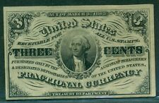 3¢ Fractional Currency, light background, Fr. #1226, Unc