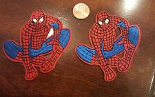 """(2) Spider-Man embroidered iron on Patches  3"""" x 3"""" Kids Fun"""