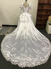 Mori Lee Wedding Dress with Veil Headpiece, Slip and Bouquet