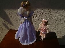 Franklin Heirloom Porcelain Dolls Gibson Girls Promenade Mother & Daughter W/Box