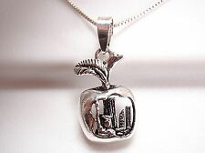 New York City Apple Cutaway Showing the Big Apple Pendant 925 Sterling Silver