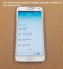 AT&T SAMSUNG GALAXY S5 SM-G900A White Used SMARTPHONE CLEAN IMEI